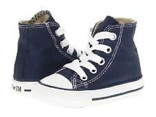 Converse All Star Hi Chucks Infant Toddler Navy Canvas Shoe 7J233 FreeShipping