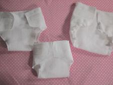 2 Bambola pannolini, Pannolino per Bambole, 4 Formati, Molton, Set 2