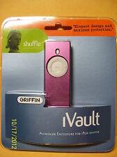 Griffin iVault Metal Jacket for Ipod Shuffle purplish pink