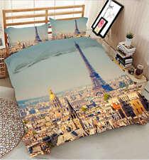 Romantic Paris 3D Printing Duvet Quilt Doona Covers Pillow Case Bedding Sets