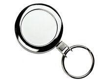 Heavy Duty Metal Chrome Badge Reel YoYo Retractable Key Ring ID Card Holder.