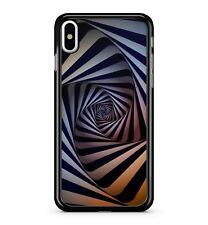 Black White Swirl Illusion Pattern Swirling Whirlpool Design 2D Phone Case Cover