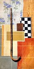 12 x 24 Russian Art Jurij Vasnecov Mural Chess Tumbled Marble Tile #684