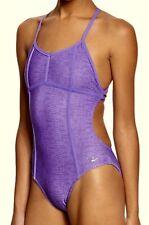 SPEEDO Purple Reptile Printed Tie Back Swim Suit NEW Girls Womens Sz 26 30 32 38