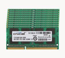 40GB/16GB/8GB/4GB Crucial 2RX8 PC3L-12800U DDR3 1600Mhz SODIMM Laptop Memory LOT