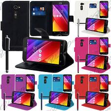 Schutz Hülle für Asus Zenfone 2 ZE500CL Handy Brieftasche Flip Case Cover Schale