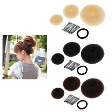 Donut Hair Ring Bun Former Shaper Styler Tool Hair Clips Set for Girls