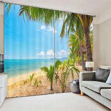 Massive Sea And Sunshine 3D Curtain Blockout Photo Print Curtains Fabric Window