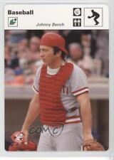 2005 Leaf Sportscasters White Fielding Glove #24 Johnny Bench Cincinnati Reds