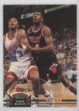 1992-93 Topps Stadium Club #84 Willie Burton Miami Heat Basketball Card