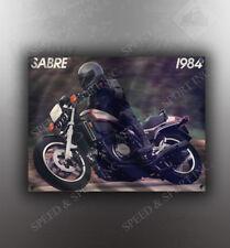VINTAGE HONDA 1984 SABRE MOTORCYCLE BANNER