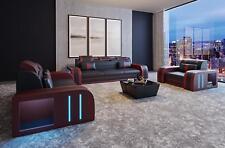 Sofagarnitur Big XXL Polster Sitz Komplett Couch Leder Garnitur 3+2+1 Neu A3 S/R