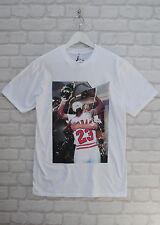 Realtà Michael Jordan celebrazione Basket Bianco Girocollo Tee T-Shirt