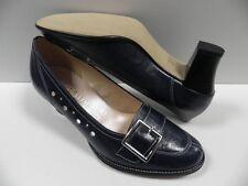Chaussures ELANTINE epea bleu foncé FEMME taille 37 mocassins blue shoes NEUF