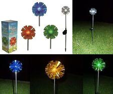 Solar LED Gartenstecker Garten Beleuchtung Weg Teich Balkon Party 12 x 70 cm