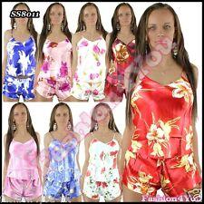 Dames sexy Pyjama Satin a établi Lingerie Babydoll taille des femmes UK 8/10, 12/14 nouveau