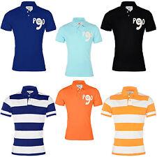 Herren Poloshirt Slim Fit T-Shirt Gestreift,Unifarben Figurbetont S-XXL