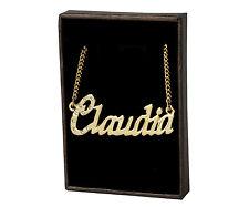 """CLAUDIA"" Name Necklace 18K Gold Plated | Swarovski Elements | Love/Wedding/Bday"