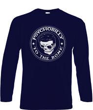 Psychobilly Camiseta Manga Larga Biker Rocker Camiseta Punk Rock and Roll los calambres