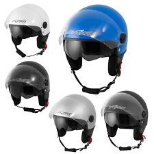 Motorcycle Open Face Jet Helmet  Scooter Double Visor Inner Sun A-pro