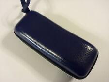 Sunglasses Hard Case Royal Blue Leather Look Vinyl Optical Fashion Hard Zipper