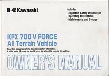 2003 KAWASAKI ATV KFX 700 V FORCE OWNERS MANUAL USED