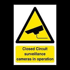 CCTV Cameras in Operation Sign A4, A3, A2 Foamex, Correx, Plastic (S27)