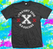 Straight Edge Hardcore - T Shirt -  4 colour options - Small to 3XL