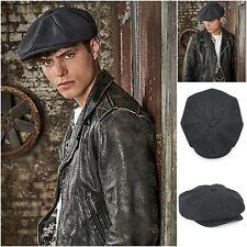 Wool Newsboy Flat Cap Newsy Gatsby Baker Boy Hat Cabbie Mens Womens Ladies