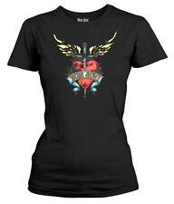 Bon Jovi 'Heart & Dagger' Womens Fitted T-Shirt - NEW & OFFICIAL