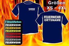 FEUERWEHR T-Shirt beidseitg inkl. Ortsname - 7 versch. Druckfarben - 013