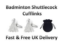 Badminton Shuttlecock Cufflinks Sport Birthday Present Gift Fun Smart Shirt
