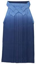 Japanese Women's Traditional Kimono HAKAMA Skirt Polyester #15 Blue from Japan
