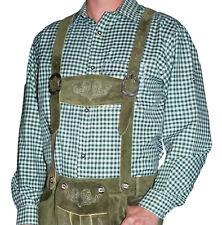 GREEN WHITE Striped Shirt Long Short Sleeve German Lederhosen Oktoberfest M L XL