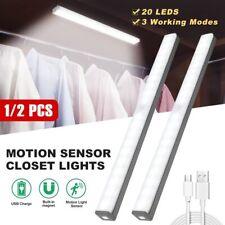20 LED Motion Sensor PIR Light Wardrobe Under Cabinet Closet Stair Night Light