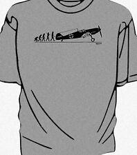 """""""Evolution of Man"""" WW2 Messerschmitt Bf 109  t-shirt"""