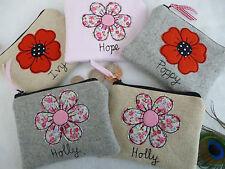 Personalizado Flor o de amapola Monedero elección de redacción y diseño El Día De Madre