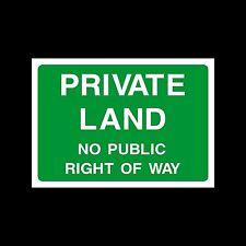 Terreni privati un diritto di firmare, Adesivo-Tutte le Taglie e materiali - (ca51)