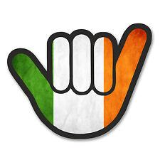 2 x 10cm Irish Flag Shocker Hand Vinyl Sticker Decal Car Bike Ireland Fun #6179