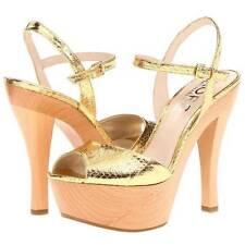 """$295 Michael Kors """"Iden"""" Platform Sandals, Women's Shoes, Gold Snake 6US-10US"""