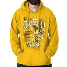 Colorado The Centennial State Map Tourist CO Hoodies Sweat Shirts Sweatshirts