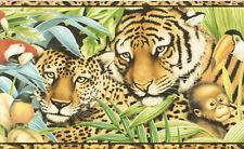 JUNGLE WILD LIFE LEOPARD, PANDA  Wallpaper bordeR Wall