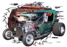 1923 Green T Bucket Custom Hot Rod Diner T-Shirt 23 Muscle Car Tees