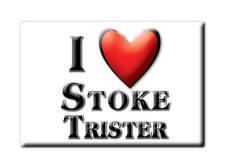 SOUVENIR UK - ENGLAND MAGNET UNITED KINGDOM I LOVE STOKE TRISTER (SOMERSET)