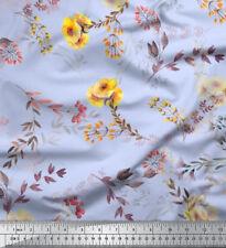 Soimoi Fabric Leaf Floral Print Fabric by Yard - FL-797F