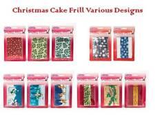 Torta di Natale Volant Vari Disegni 914 x 83 mm (36 x 3.5 pollici)