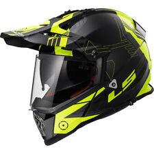 LS2 Pioneer Trigger Motorcycle Motorbike Motocross Helmet - Black / Fluo Yellow