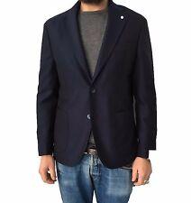 LUIGI BIANCHI MANTOVA giacca uomo blu mod 2560 TRAVELLING JACKET 100% lana
