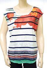 DESIGUAL Tee Shirt TS MACARENA blanc 72T2WJ2 femme coloris 1000 Blanco