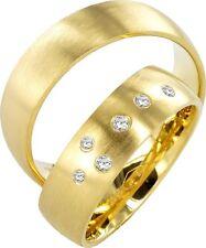2x JC Trauringe Eheringe 585 Gold Verlobungsring 14 Karat Paarpreis J102
